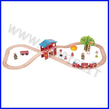 Treno-go - il treno dei pompieri 39 pz