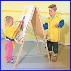 Cavalletto pittura bifacciale cm.60x125h