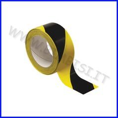 Nastro adesivo segnaletico giallo/nero mm 50x33 mt