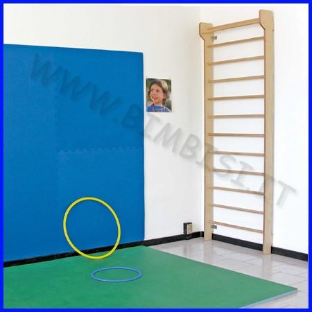 Protezione murale eva mattonella 100x100 sp.1 cm blu
