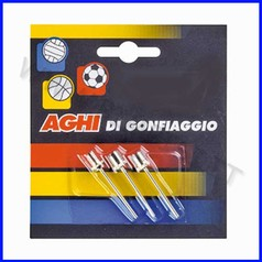 Aghi in metallo per pompa palloni volley blister 3 pz