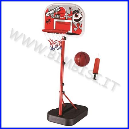 Basket set: canestro regolabile + palla + pompa