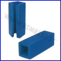 Copricolonna imbottita blu