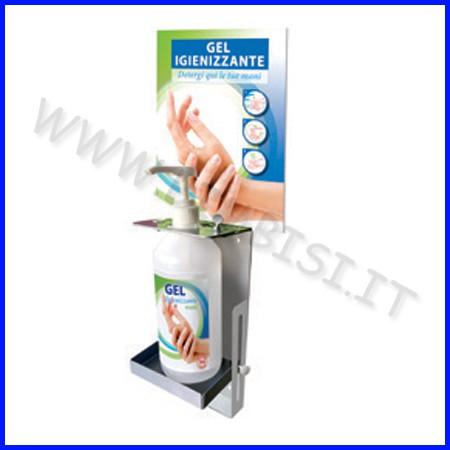 Supporto parete dispenser gel lavamani