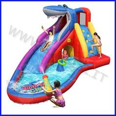 Castello gonfiabile happyhop squalo dim.cm 400x320x240