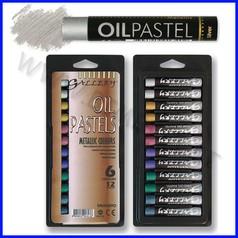 Pastelli a olio metallizzati 12 col.ass.