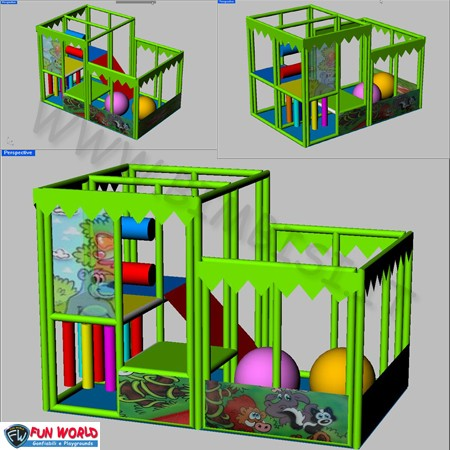 Soft playground american truck 3,7 x 2,3 x 2,4/1,8h mt x 10/15 bambini