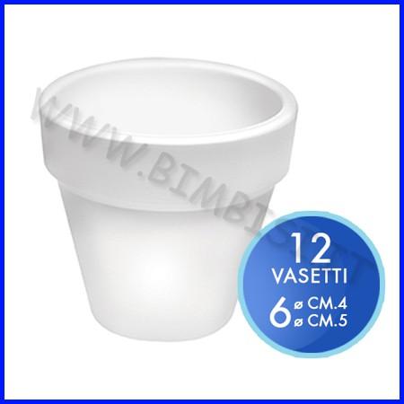 Vasetto color bianco - set 12 pz. - misure assortite