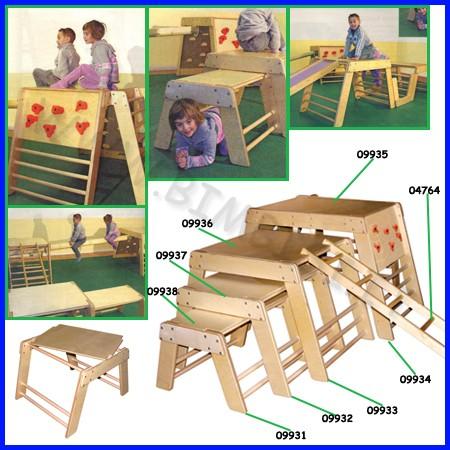 Attrezzi ginnici legno top cm.35x71x1,8h