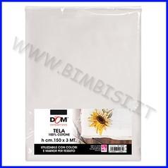 Tessuti pittura tela 100% cotone cm.150x3 mt.