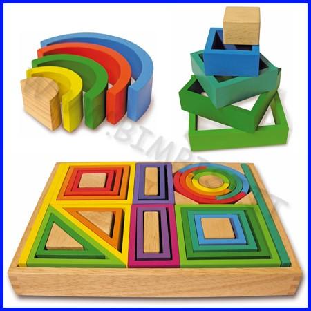 Forme geometriche in legno