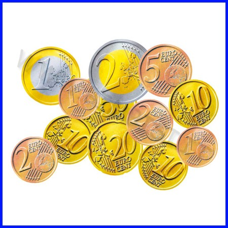 Euro monete scatola 148 pezzi assortiti