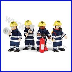 Pompieri in legno - set pz. 4