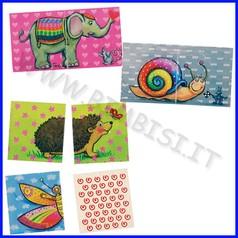 Memory in legno con 5 disegni - animali (32 pz.)