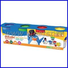 Pasta per modellare set 4 barattoli colori assortiti - gr.520