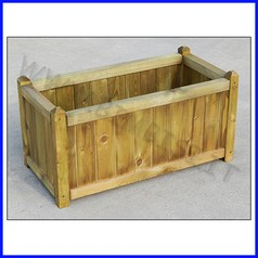 Fioriera in legno cipro maxi 40x80x40hcm