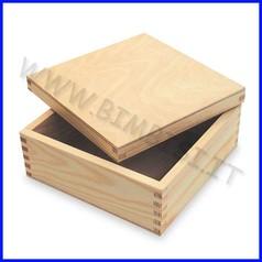 Supporti in legno: scatola con coperchio cm.10x10x6,5