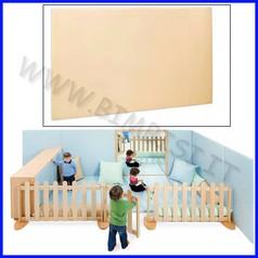 Elemento imbottito a parete da 130 a 260 cm 130-260x4x130