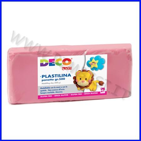 Plastilina - panetto gr.500 - rosa
