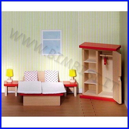 Casa delle bambole - camera da letto 10 pz