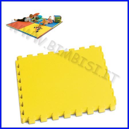 Mattonella in eva 50x50 sp.1 cm giallo con bordi