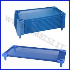 Brandina impilabile blu montata 133x58x12