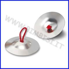 Strumenti musicali piattelli a dita in acciaio diam. 6,4 cm coppia