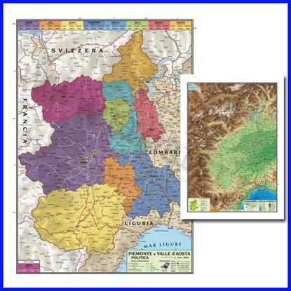 Cartina Geografica Piemonte Valle D Aosta.Bimbi Si Giochi Educativi E Sussidi Didattici Laboratorio Di Geografia 106 09730 Carta Geografica Regionale Piemonte E Valle D Aosta 100x140 Bifacciale Parete
