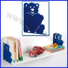 Reggimensola teddy blu 2 pz 17x3x20h cm