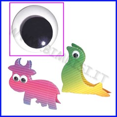 Occhi mobili adesivi - busta pezzi 100 - diametro mm. 12