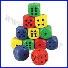 Dadi cm.3 - set 12 pezzi - colorati