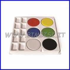 Acquerello 6 maxi pastiglie + tavolozza colori assortiti