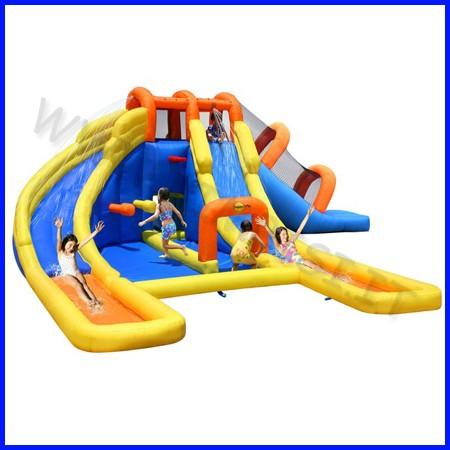 Castello gonfiabile happyhop parco acqua tico dim.cm 735x630x250