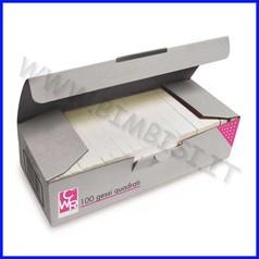 Gessi quadrati per lavagne - scatola 100 pezzi - bianchi