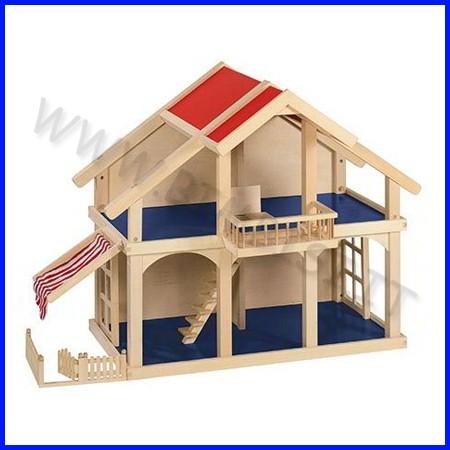 Casa delle bambole in legno dim.cm 44,5x82x62h