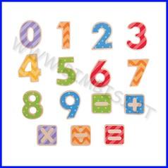 Numeri magnetici in legno - pz. 56