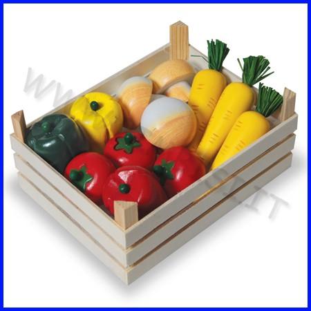 Cassetta in legno con 12 verdure ass. fino ad esaurimento