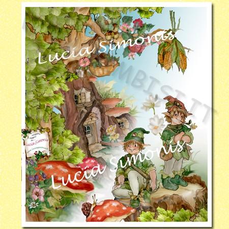 Poster linea fantasy cartalucida 70x100h
