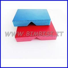 PARACOLPI ANGOLARE BLU H130 SP.2.2 CM 5+5 CL1 RIV.PVC
