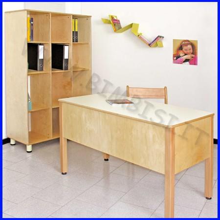 Cattedra scrivania linea milano cm 65x130x78h