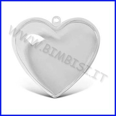 Cuore kristall 3d cm. 10