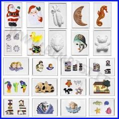 Stampi a rilievo per colata 13x19 cf 20