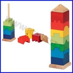 Torre impilabile in legno (9 pz.)