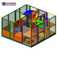 Soft playground modello 3 dim. cm 400x400x240h - 25 bambini