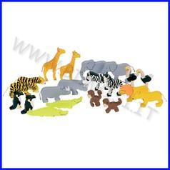 Animali dell'africa in legno - conf.20 pz.
