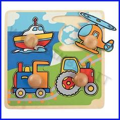 Puzzle pomelloni cm.20x20 - mezzi di trasporto