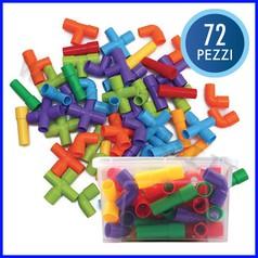 Tubetti colorati - bauletto 72 pezzi