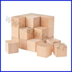 Cubetti in legno cm.2 - busta 50 pz.