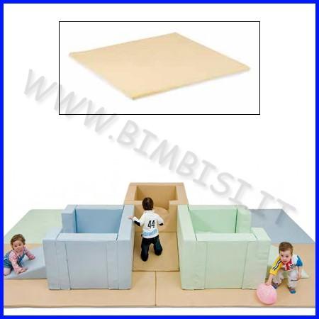 Tappeto bicolore grande 130x130x4