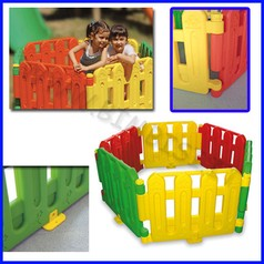 Recinto multicolore per bimbi set base 6 pz dim.cm 80x56x6 dim.totale 4,80 mt
